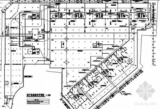 四川某大厦地下车库弱电平面图