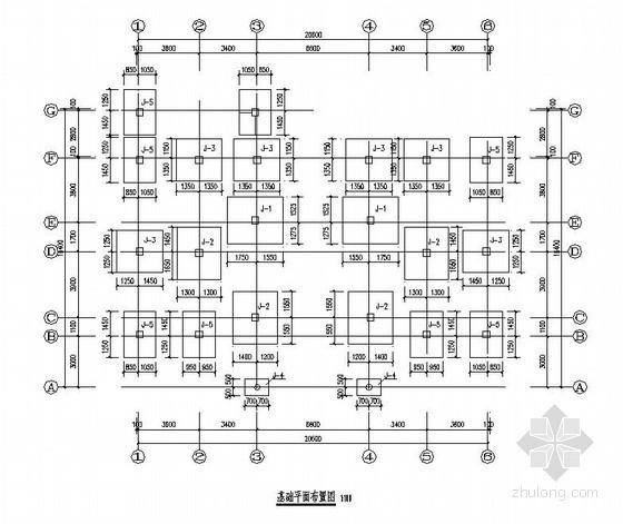 仙游县某4层框架老年人活动中心结构设计图