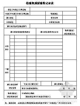 检验批质量验收记录表