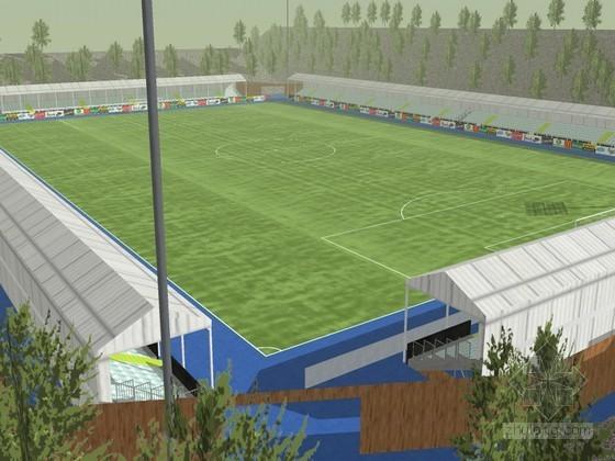 unity运动场模型资料下载-足球运动场SketchUp模型下载