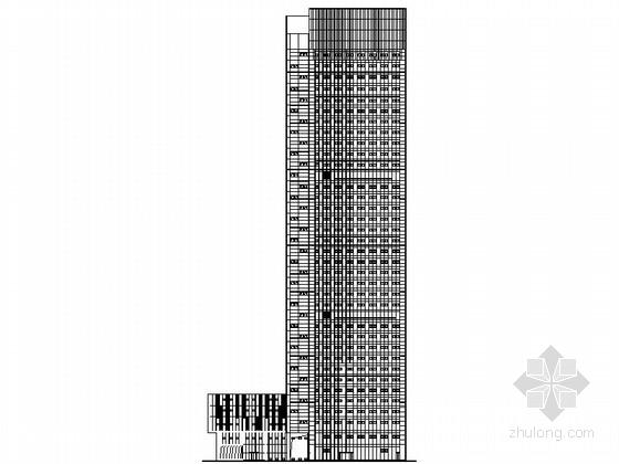 [南通]某三十七层国际贸易中心办公楼建筑施工图