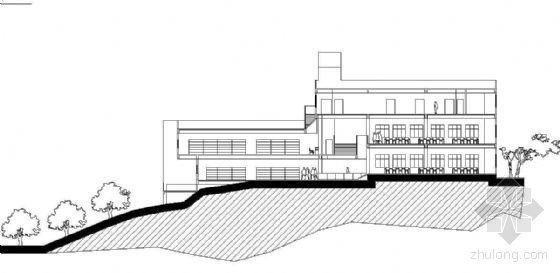 某小型的山地图书馆建筑方案带效果图