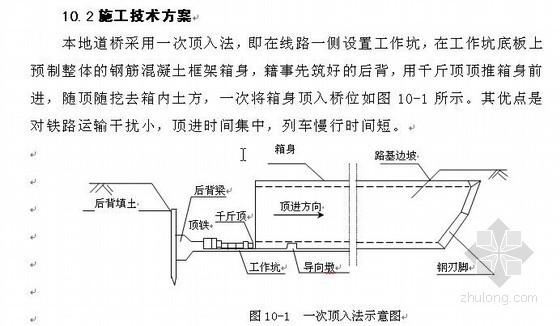 北京某框架桥顶进施工方案