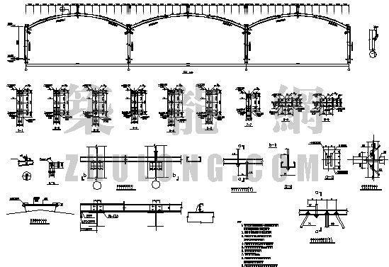 总装备部某装甲车钢结构停车棚