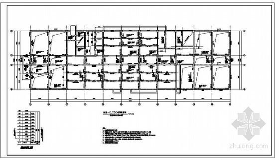 某8度区高层教学楼结构设计图(含人防工程)