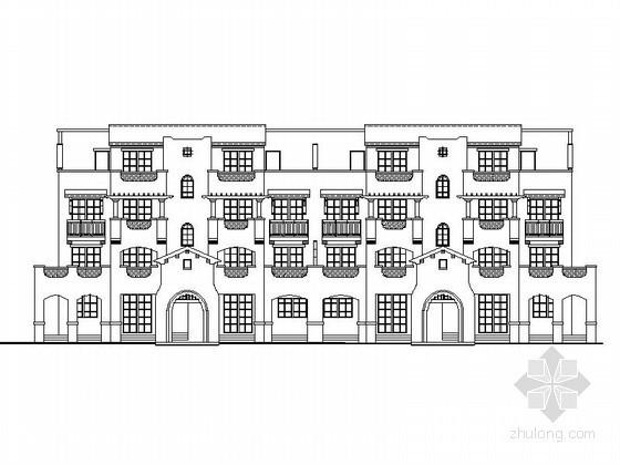 [重庆]某五层西班牙式BH型 花园洋房建筑施工图(含建筑节能模型)
