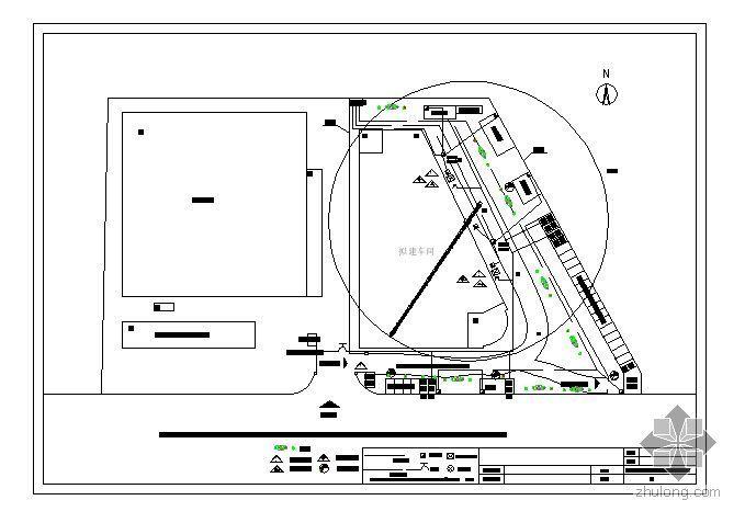 杭州某门窗厂厂房施工平面布置图汇编