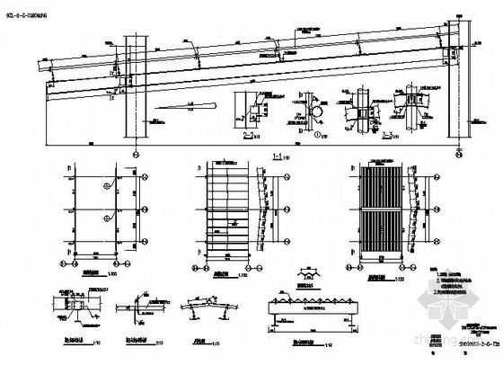 某钢屋面檩条彩钢板节点构造详图