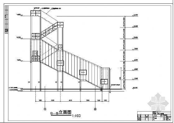 某室外楼梯建筑结构图