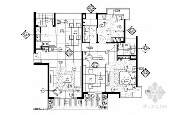 简约现代风格三居室装修图(含实景照片)