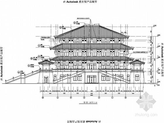 仿古建筑宫殿全套建筑结构施工图