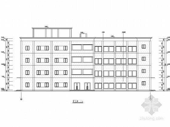 [学士]四层框架结构中学办公楼毕业设计(含建筑图、结构图、计算书)