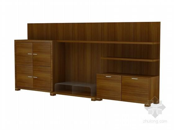 现代中式电视柜3D模型下载
