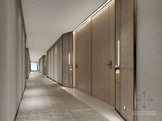 [杭州]某五星级酒店客房及电梯厅设计方案 效果图