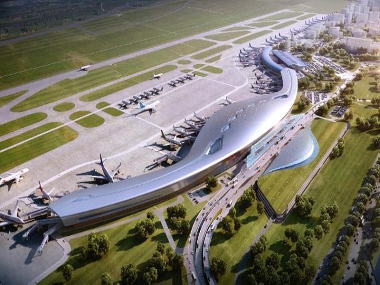 [贵州]复杂超长混凝土框架结构航站楼结构施工图