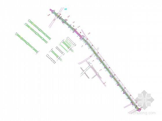 [湖北]市政道路非机动车道平面图