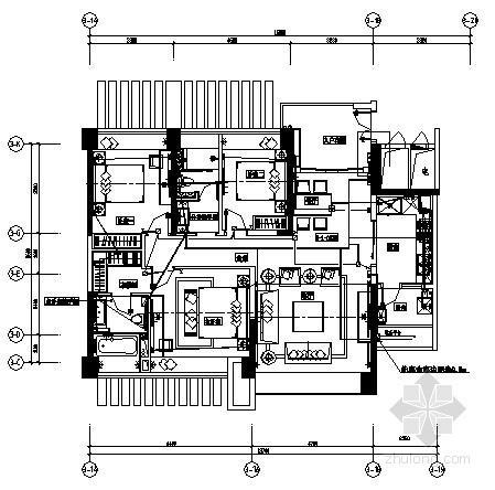 [珠海]住宅样板房水电装修竣工图纸
