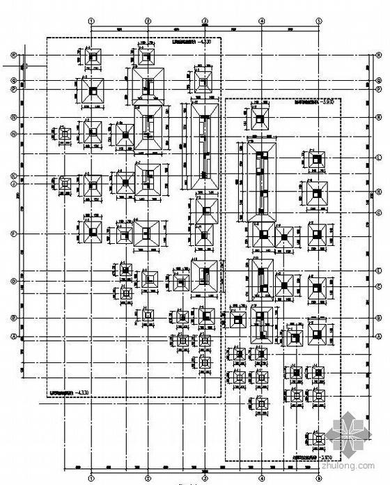 某四层框架结构别墅全套建筑及结构施工图