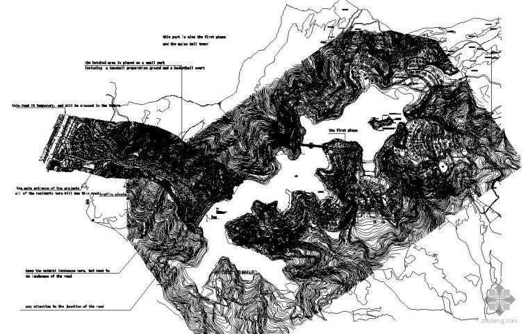 成都某高档别墅区景观设计平面图(英文)