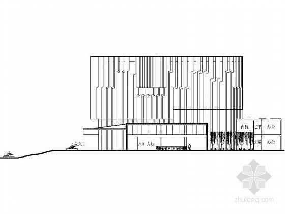 某学校六层图书馆建筑方案图