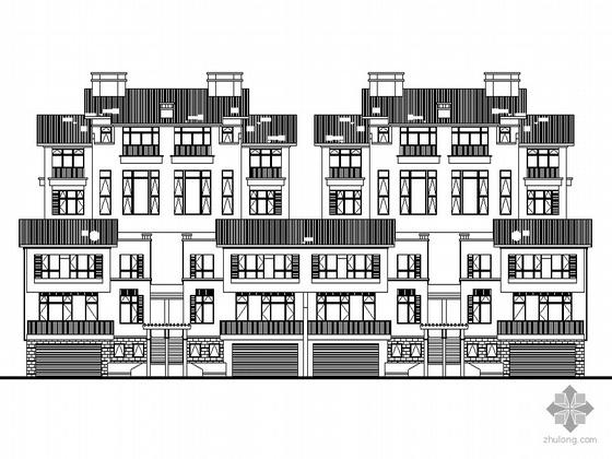 [南京]某海岸项目叠院拼接别墅建筑施工图(D2,D3,D8,D9型)