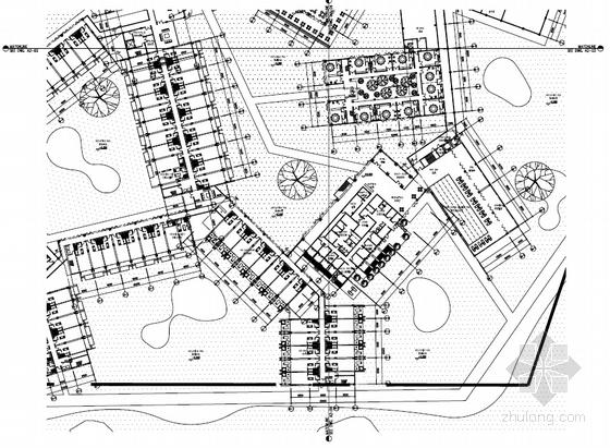 [河南]传统中式风格园林景观式酒店建筑设计方案文本-传统中式风格园林景观式酒店各层平面图