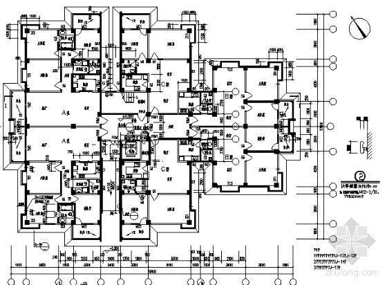 宜宾某小区住宅楼群建筑结构施工图-4
