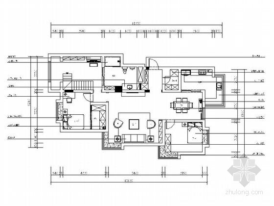 [青岛]精品混搭波普风格复式样板间CAD装修施工图(含效果)