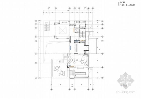[江蘇]精品現代簡約風格三層售樓中心室內裝修設計方案