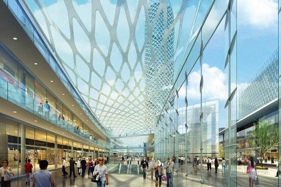 [深圳]沿海新区超高层城市中心总体规划设计方案文本-沿海新区超高层城市中心效果图