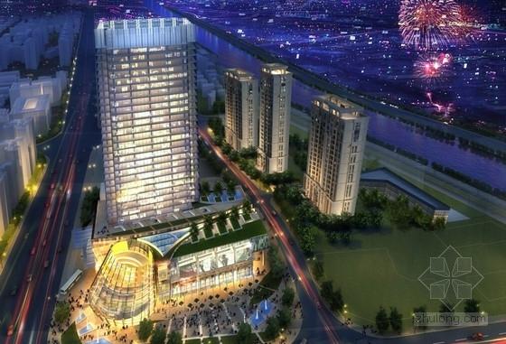 [陕西]现代风格超高层综合交通枢纽建筑设计方案文本