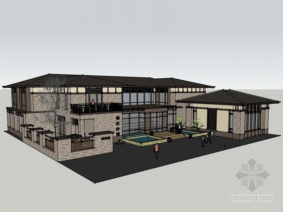 会馆古建筑SketchUp模型下载