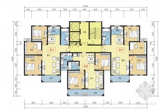 [江苏]生态型西班牙风格住宅区规划设计方案文本-生态型西班牙风格住宅区规划设计平面图