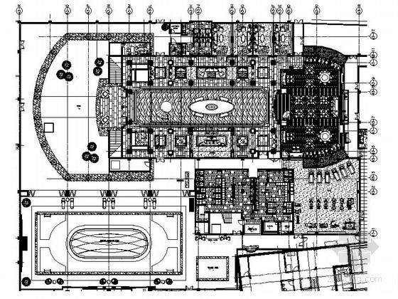 [上海]中环主流豪宅区商务会所装修施工图