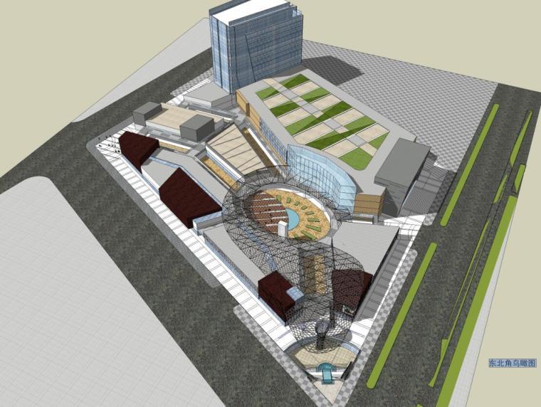 [新疆]某商业综合体建筑方案文本(PDF+21页)