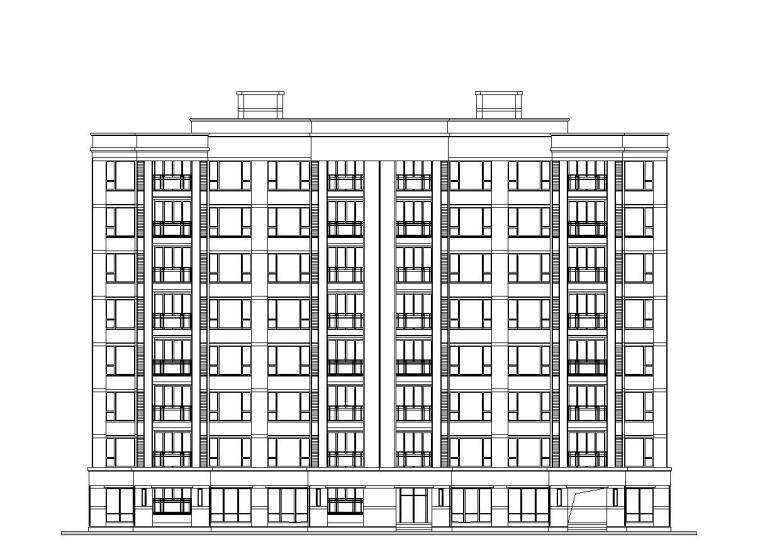 [上海]浦江镇中心商品住宅建筑施工图设计(CAD)