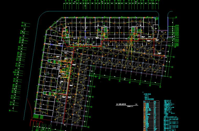 住宅楼弱电安装工程量清单计价实例---有图-一层消防自动报警