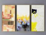 暖黄色系现代抽象装饰画