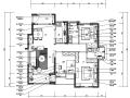 【天津】田园风格展示性样板房空间设计施工图(附效果图)