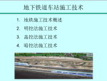 城市轨道交通修建技术之地下铁道车站施工技术PPT(138页)