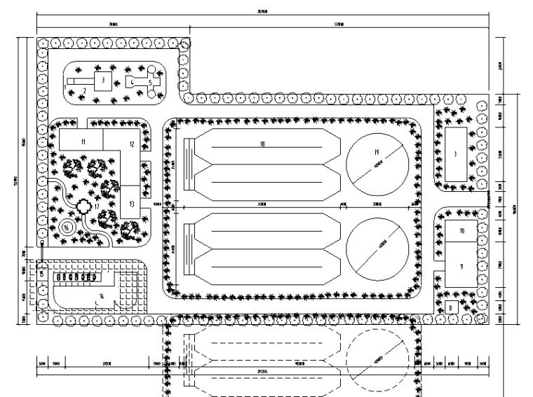 四川某县城市污水处理工程图纸(CAD)