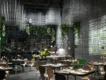 花园餐厅3D模型下载