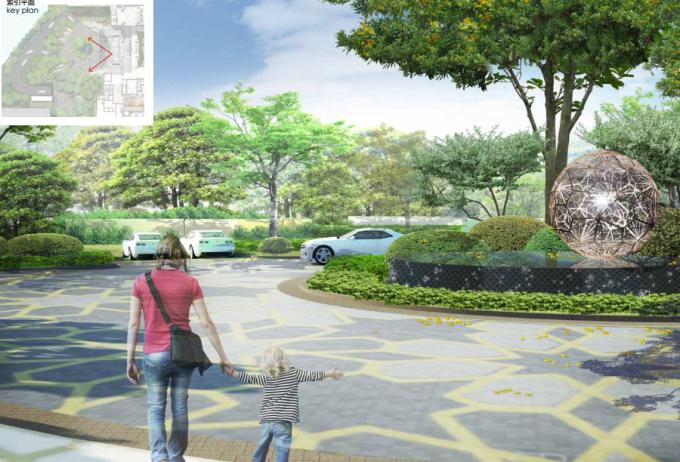 [福建]现代简洁户外休闲花园生态商业酒店景观设计方案