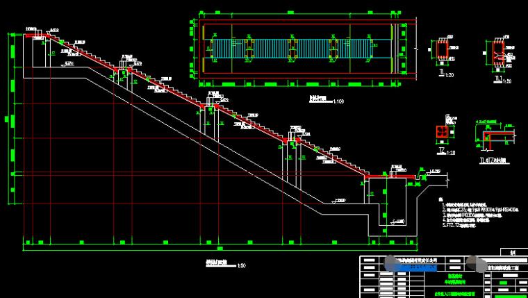 地铁双柱三跨钢混框架结构地下两层岛式车站设计图纸255张(明挖法,盖挖逆筑法)_5
