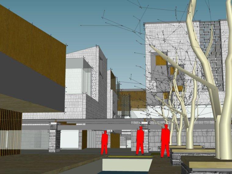 现代主义风格,3层商业街街模型最终设计(SU模型)-20150902_140135_354