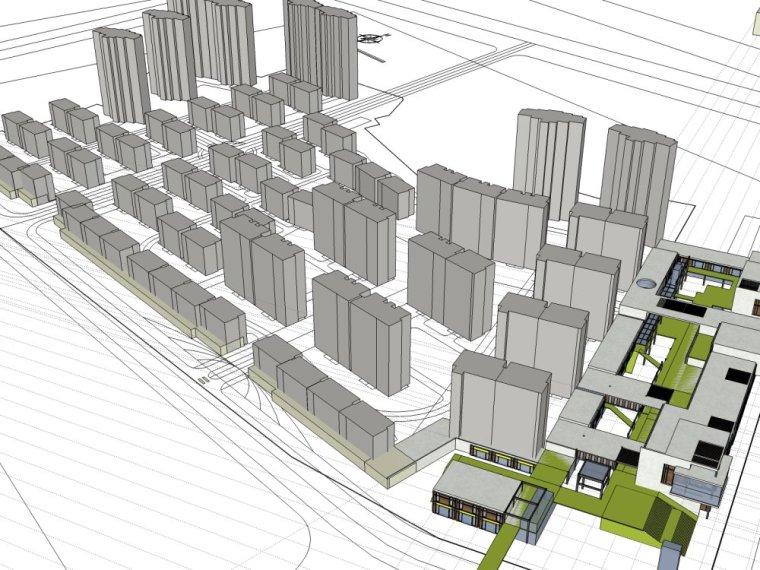 规划住宅现代高层平面立面总图skp+商业商业街平面立面总图-29ed2500d8e451f11556c9e88bc68146