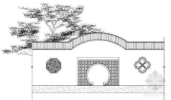 古典景墙立面设计图(二)