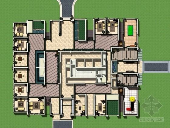 [昆明]商住两用住宅架空层景观设计方案