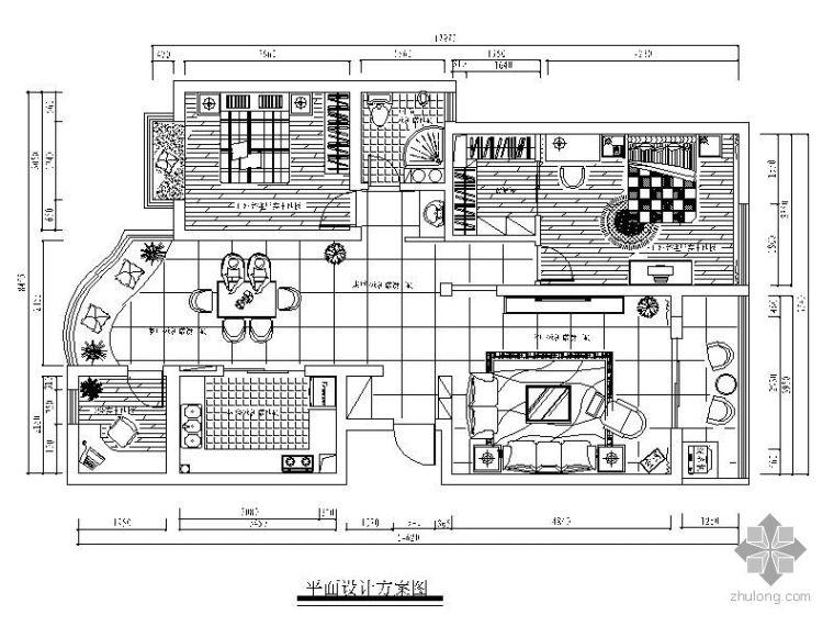 现代中式二居装修图(含实景)