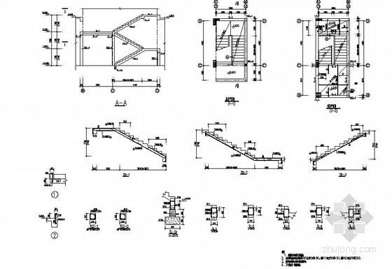 陕西某2层框架宾馆结构设计图